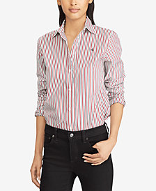 Lauren Ralph Lauren Floral-Print Cotton Sateen Shirt