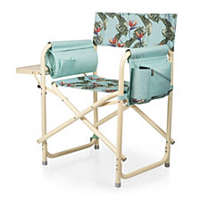 Picnic Time Outdoor Light Blue Directors Folding Chair