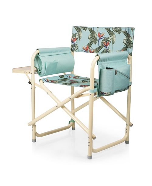 Picnic Time Oniva™ by Outdoor Light Blue Directors Folding Chair
