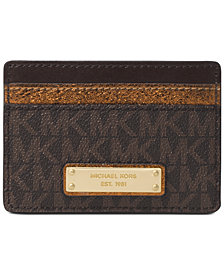 MICHAEL Michael Kors Signature Metallic Card Holder