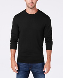 Club Room Men's Regular-Fit Solid Merino Sweater, Created for Macy's