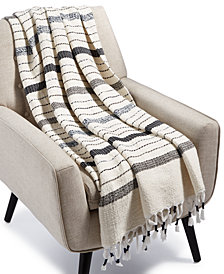 Lucky Brand Mingled Stripe Throw, Created for Macy's