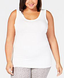 Cuddl Duds Plus Size Softwear Reversible Tank Top