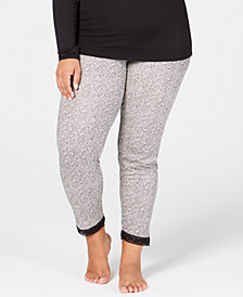 Cuddl Duds Plus Size Softwear Lace-Trim Stretch Leggings