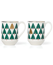 kate spade new york Pine Street Collection 2-Pc. Mug Set