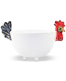 VIETRI Fortunata Rooster Footed Deep Bowl