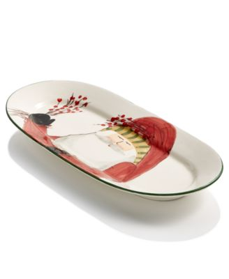 Old St. Nick Oval Platter with Berries, Created for Macy's