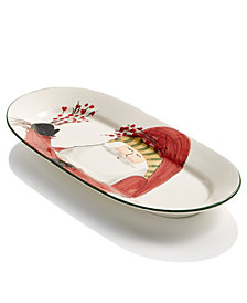 Vietri Old St. Nick Oval Platter with Berries, Created for Macy's