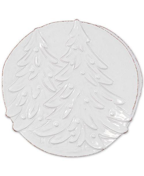VIETRI Lastra Winterland Stoneware Round Platter