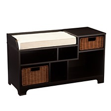 CLOSEOUT! Wixshire Asymmetrical Storage Bench, Quick Ship