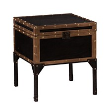 Drifton Travel Trunk Side Table, Quick Ship