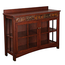 Camino Mission Sideboard and Display Curio, Quick Ship