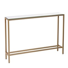 Darrin Narrow Console Table w/ Mirrored Top, Quick Ship