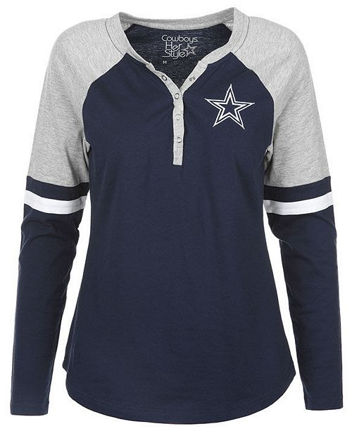 Authentic Nfl Apparel Women S Dallas Cowboys Nilly Long Sleeve T