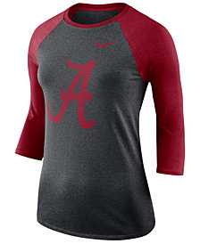 Nike Women's Alabama Crimson Tide Dri-Blend Raglan T-Shirt