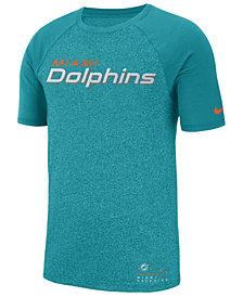 Nike Men's Miami Dolphins Marled Raglan T-Shirt