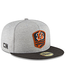 New Era Boys' Cincinnati Bengals Official Sideline Road 59FIFTY Fitted Cap