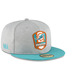 New Era Boys' Miami Dolphins Official Sideline Road 59FIFTY Fitted Cap