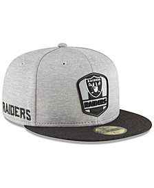 New Era Boys' Oakland Raiders Official Sideline Road 59FIFTY Fitted Cap
