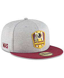 New Era Boys' Washington Redskins Official Sideline Road 59FIFTY Fitted Cap