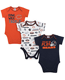 Gerber Childrenswear Chicago Bears 3 Pack Creeper Set, Infants (0-9 Months)