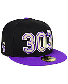 New Era Colorado Rockies Area Code 59FIFTY FITTED Cap