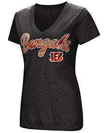 G-III Sports Women's Cincinnati Bengals Tailspin Script Foil T-Shirt