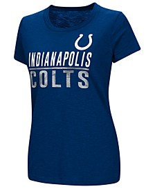Women's Indianapolis Colts Dynasty Stacked Glitter T-Shirt