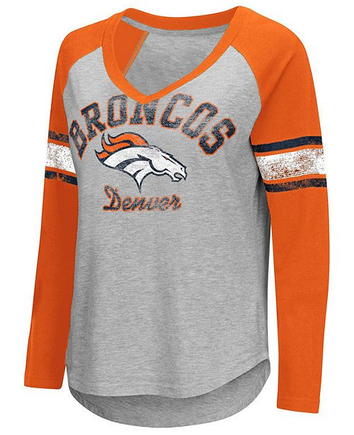 Nice G III Sports Women's Denver Broncos Sideline Long Sleeve T Shirt  for sale