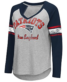 G-III Sports Women's New England Patriots Sideline Long Sleeve T-Shirt
