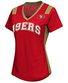 G-III Sports Women's San Francisco 49ers Wildcard Jersey T-Shirt