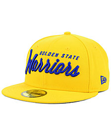 New Era Golden State Warriors Classic Script 59FIFTY FITTED Cap