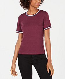 Ultra Flirt by Ikeddi Juniors' Ribbed Ringer T-Shirt
