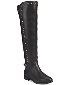 11927120c3bd Rialto Ferrell Studded Wide-Calf Over-The-Knee Boots