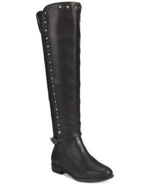 Image of Rialto Ferrell Studded Wide-Calf Over-The-Knee Boots Women's Shoes
