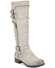 White Mountain Remi Wide-Calf Riding Boots, Created for Macy's
