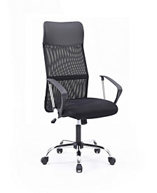 Mesh, High-Back, Adjustable Height, Swiveling Executive Chair with Chrome Base