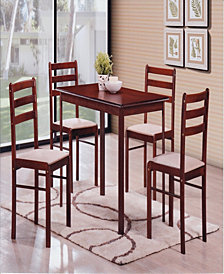 5-Piece Dinette Set in Mahogany
