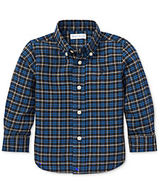 Polo Ralph Lauren Baby Boys Twill Plaid Cotton Shirt