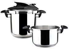 Magefesa Nova 4 and 6 Qt. Stainless Steel Pressure Cookers, Set of 2