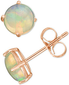 Opal Stud Earrings (1 ct. t.w.) in 14k Rose Gold