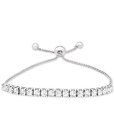 Lab-Created White Sapphire Bolo Bracelet (4-1/2 ct. t.w.) in Sterling Silver