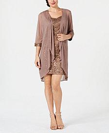 R & M Richards Lace Sequin-Embellished Dress & Jacket