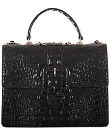 Brahmin Francine Melbourne Embossed Leather Satchel