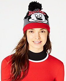 Concept One Minnie Mouse Pom Pom Cuffed Beanie