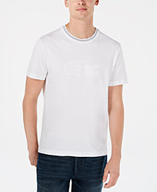 Lacoste Men's Crocodile Flocked Graphic T-Shirt, Created for Macy's
