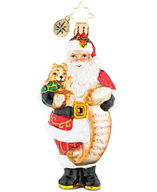 Christopher Radko Santa's Lofty List Ornament