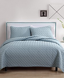 Nina 3-Piece Embossed King Quilt Set