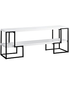"Monarch Specialties Black Metal 60""L Tv Stand in White"