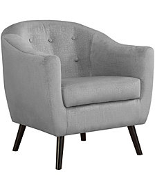 Monarch Specialties Accent Chair - Grey Mosaic Velvet